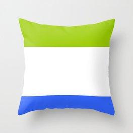 Flag of sierra leone 2 -salone,Sierra Leonean,Leone,Sierra Leona,freetown. Throw Pillow
