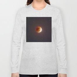 Lunar Eclipse Blood Moon Long Sleeve T-shirt