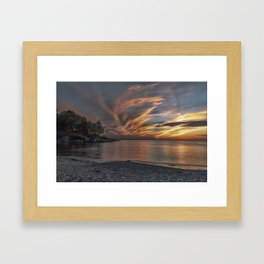 Sunset at the beach 0681 Framed Art Print