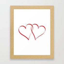 Embracing Hearts Framed Art Print