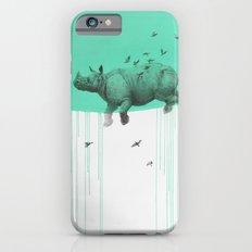rhinoceros on green iPhone 6s Slim Case