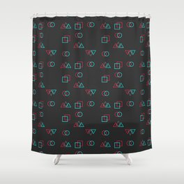 Retro Error Shower Curtain