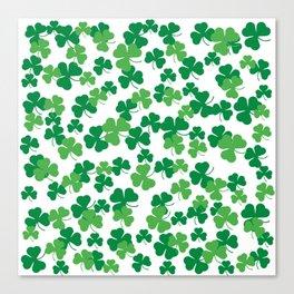 St. Patricks day clover pattern Canvas Print