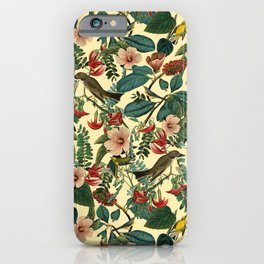 FLORAL AND BIRDS VII iPhone Case