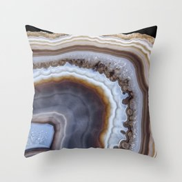 Mocha Agate 3294 Throw Pillow