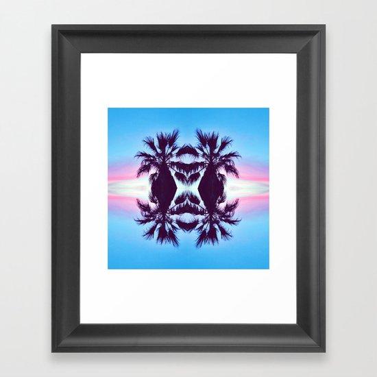 PALMADELIC BLUE Framed Art Print