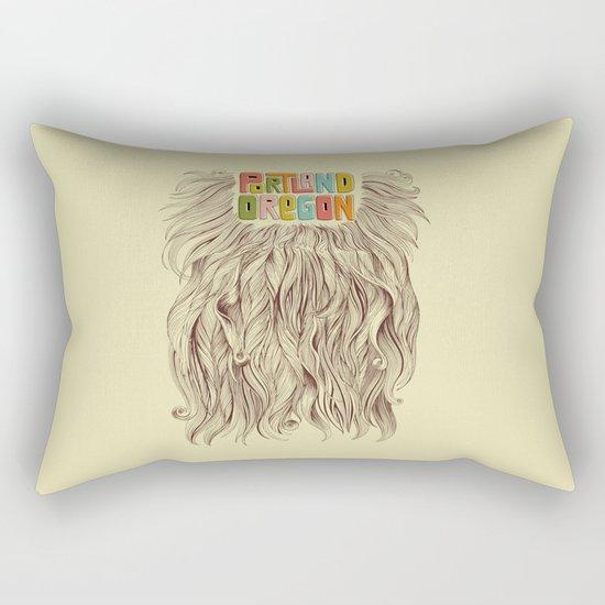 Portland = Beards Rectangular Pillow