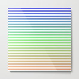 Beach Blanket - Tricolor Metal Print