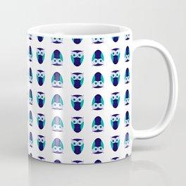 Blue Owl Pattern Coffee Mug