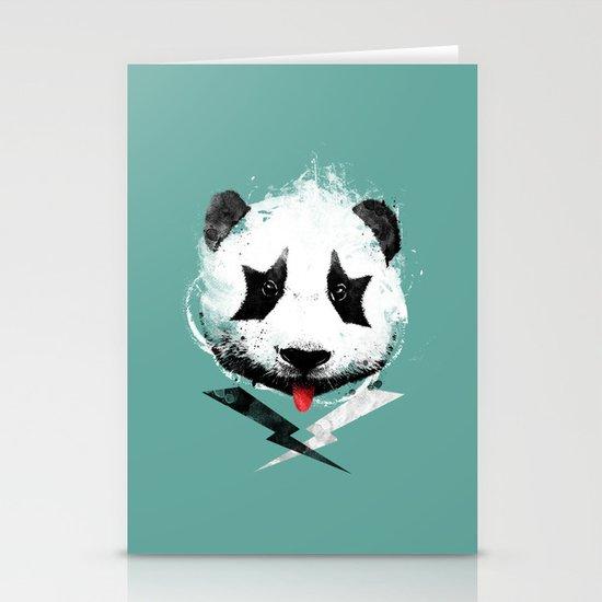 panda rock! Stationery Cards