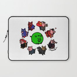 Pig-vengers Assemble! (White) Laptop Sleeve