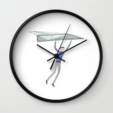 hang on to your paper airplane Wall Clock
