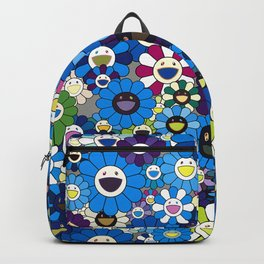 mukarami flowers blue thema Backpack