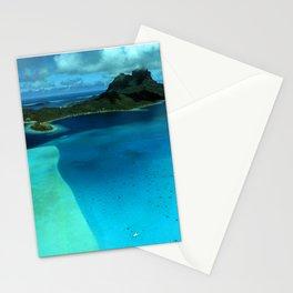 Bora Bora Lagoon Aerial Stationery Cards