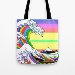 The Great Wave off Kanagawa (Colorful) Tote Bag