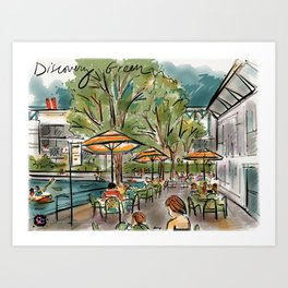 Discovery Green Park in Houston, TX Art Print