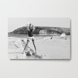 Swimsuit, shorts and stockings Metal Print