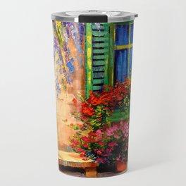 Blooming summer patio Travel Mug
