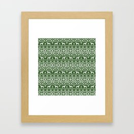 Irish Setter fair isle christmas green and white holiday sweater gifts dog breed Framed Art Print