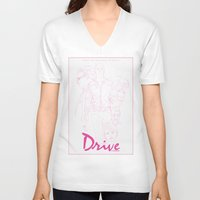 drive V-neck T-shirts featuring Drive by Matthew Bartlett