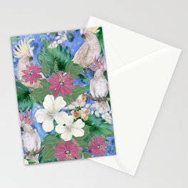 white cockatoo Stationery Cards