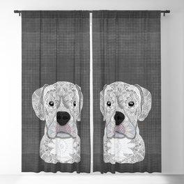 White Boxer Blackout Curtain