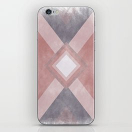 Red - Purple -  Pink Geometric shabby artwork iPhone Skin