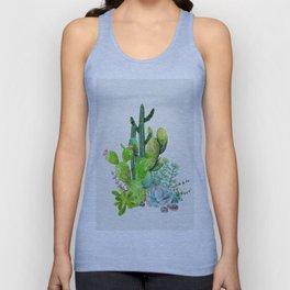 Cactus Garden II Unisex Tank Top