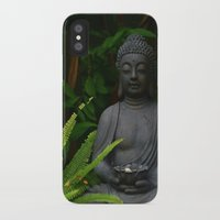 outdoor iPhone & iPod Cases featuring Outdoor Buddha Statue by Tianna Chantal