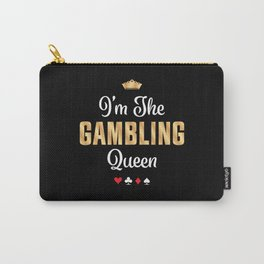 Gambling Queen Funny Casino Poker Gift Carry-All Pouch