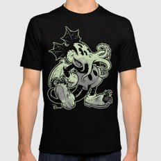 MICKTHULHU MOUSE (monochrome) Mens Fitted Tee Black MEDIUM