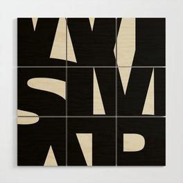 Wismar Typografie Wood Wall Art