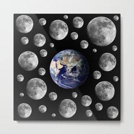 Oh Moons Metal Print