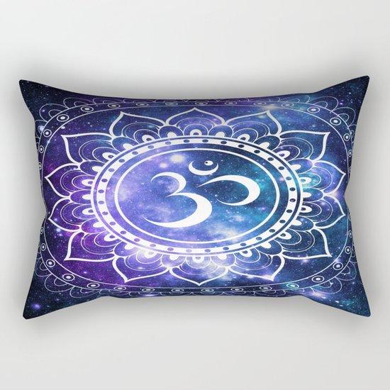 Om Mandala: Violet & Teal Galaxy Rectangular Pillow