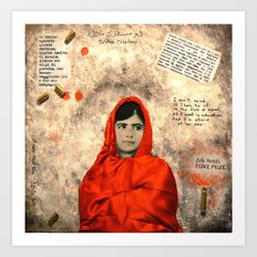 MALALA MUST DIE Art Print
