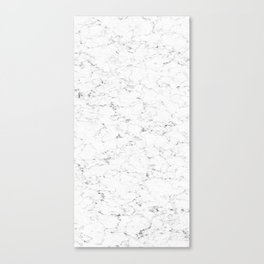 Marble White, Black and Gray 2 Texture Abstract Photography Design Canvas Print
