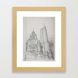 Chicago - Wrigley Clock Framed Art Print