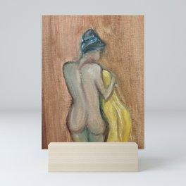 Demure Female Nude Mini Art Print