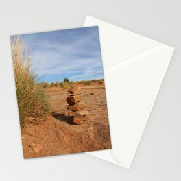 Stacked Rocks in Moab Stationery Cards
