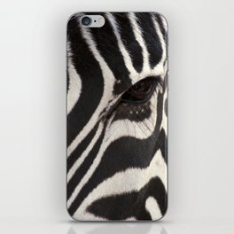 Zebra Eye iPhone Skin