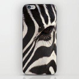 Zebra Eye iPhone Skin