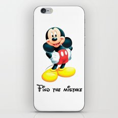 Mickey Mouse, find the mistake - humor iPhone & iPod Skin