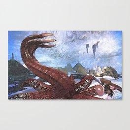Worm monster - 世界 探索 游戏 Canvas Print