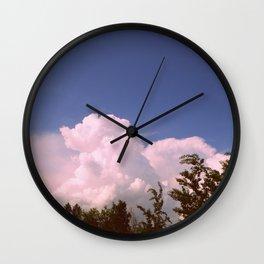 Pink Elephant Cloud Wall Clock