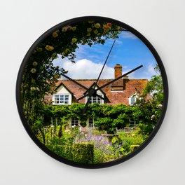 Cottage garden. v2 Wall Clock