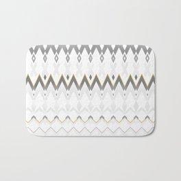 Icelandica Pattern Grey Bath Mat