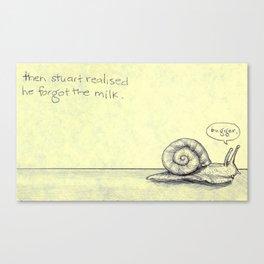 Snail Milk Canvas Print