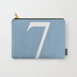 number seven sign on placid blue color background Carry-All Pouch