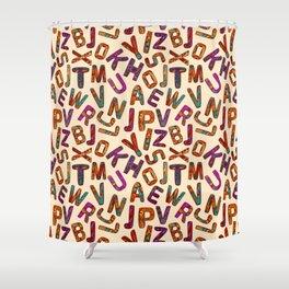 Zentangle Alphabet Letters Shower Curtain