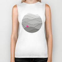 waves Biker Tanks featuring Waves by S.Y.Hong